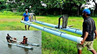 PVC BOAT MAKING | പിവിസി പൈപ്പ് കൊണ്ട് ഒരു ബോട്ട് | M4 TECH