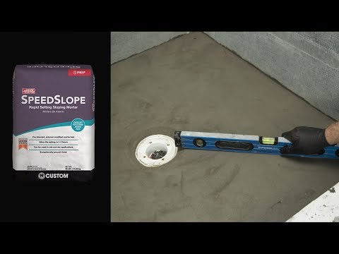 How to Install CUSTOM SpeedSlope® Rapid Setting Sloping Mortar