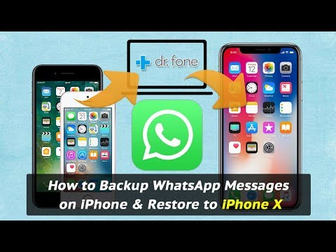 How to Backup WhatsApp Messages on iPhone & Restore to iPhone X