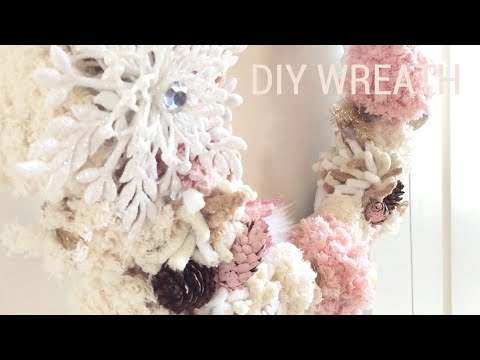 DIY Wreath | How to make a Pom Pom Wreath Tutorial|How to make Pom Poms