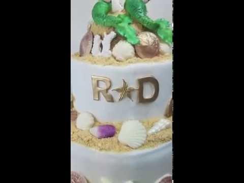 Under The Sea Wedding Cake, With Fondant Mermaids