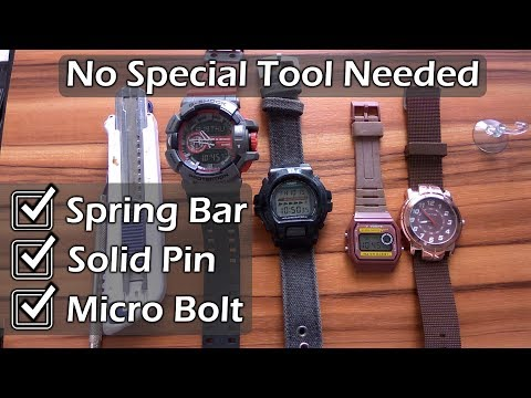 How to Change a Watch Band Without Special Tool – 3 Strap models