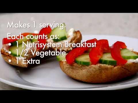 Veggie Delight Bagel Breakfast Sandwich