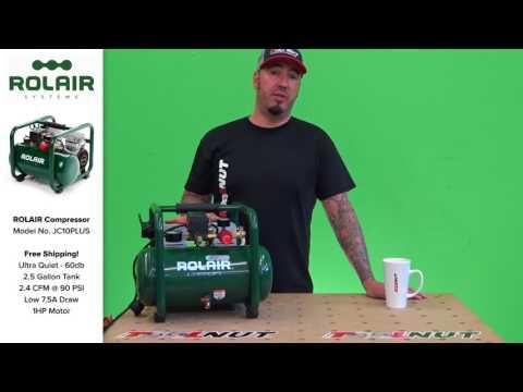 Rolair JC10PLUS 2 5 Gallon 1HP Ultra Quiet Air Compressor