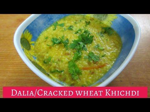 Dalia Khichdi Recipe with Moong Dal   Indian recipe for cracked wheat porridge   Recipe for diabetic