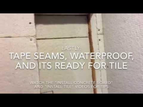 Shower Remodel (Video 6): Build Shower Niche/Nook/Shelve