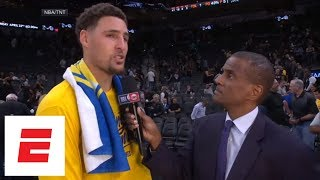 Klay Thompson: We want to close out the series in Game 4 and get everyone back healthy | ESPN