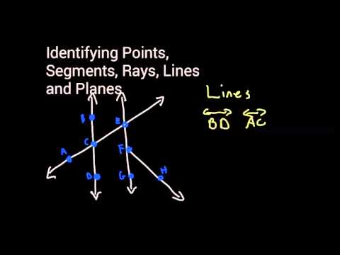 Identifying Points, Segments, Rays, Lines and Planes