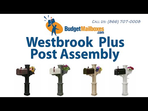 BudgetMailboxes.com | Mayne Post | Westbrook Plus Mail Post Assembly