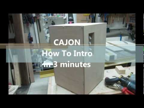 how to build a Cajon, a quick DIY video guide.