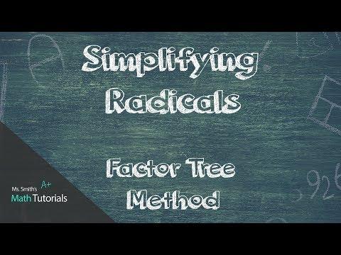 Simplifying Radicals (Factor Tree Method)