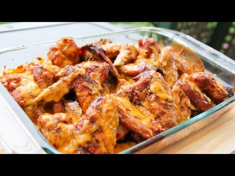 Cheesy Chicken Wings - Video Recipe