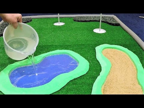 How to Make Real Sand Traps & Water Hazards for your Golf Putting Green for $5