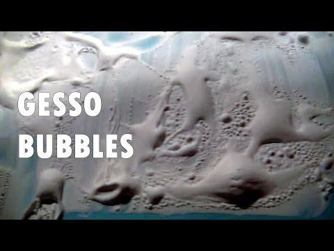 Easy Technique for Texture - Gesso Bubbles