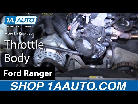 How to Install Replace Throttle Body 2001 Ford Ranger 4.0L