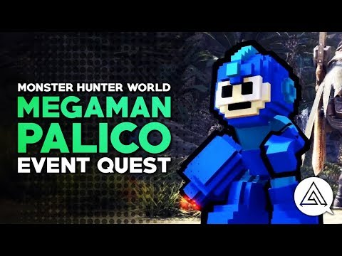 Monster Hunter World | Megaman Event Quest & Palico Gear