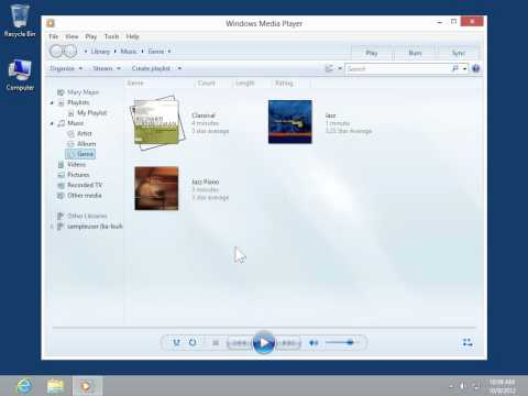 Windows 8.0 Professional - Turn On Shuffle and Repeat in Windows Media Player