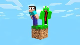 SURVIVNG IN MINECRAFT WITH ONLY 1 GRASS BLOCK!?