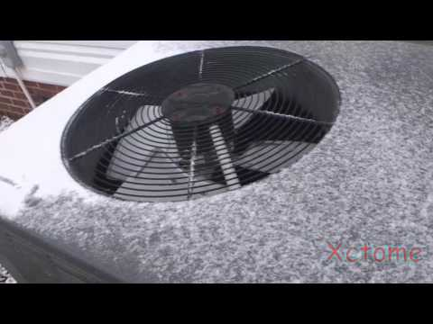 1 7 2017 A Snowy and Steamy Goodman Heat Pump Defrost Cycle