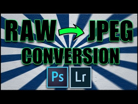 Raw File to Jpeg Conversion in Photography