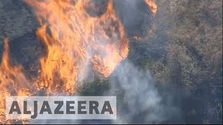 California wildfires: Homes and hospitals evacuated