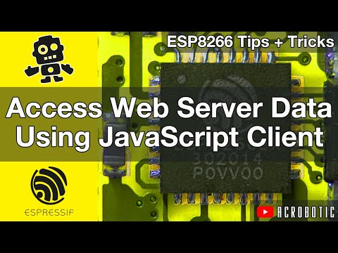 ESP8266 Webserver Data With JavaScript Client Using Arduino IDE (Mac and Windows)