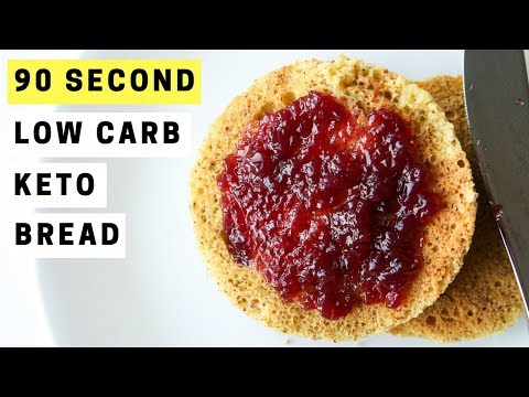 90 SECOND Low Carb Keto Bread Recipe