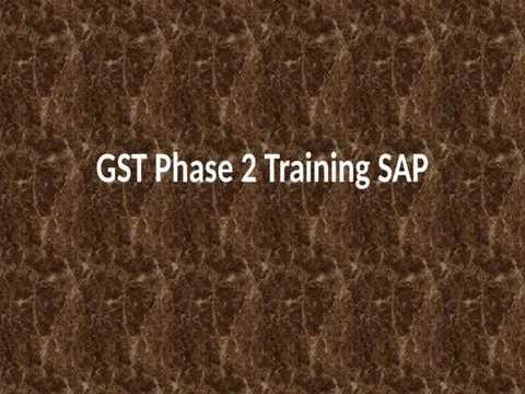 GST Integration with SAP