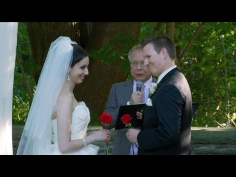 Exchanges of Rings and Vows - A Wedding Ceremony Video At The Vaughan Estates of Sunnybrook Toronto