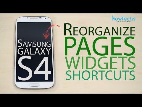 Samsung Galaxy S4 GT-I9500 / GT-I9505 Reorganize page widget shortcut