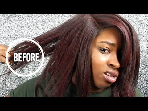 How To Flat Iron Synthetic Hair | Zury Sis Irin