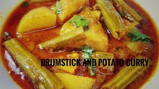 Tasty Drumstick & Potato Masala Curry Recipe    Veg Gravy By Ayesha's World In Urdu/Hindi
