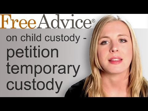 Child Custody Petition Getting Temporary Custody Before Divorce is Finalized