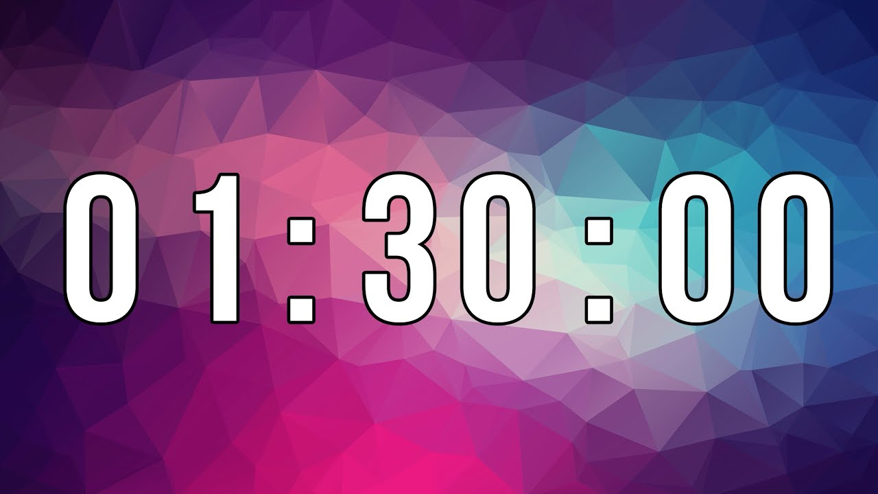 1 HOUR 30 MINUTE TIMER HD ⏳