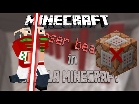 Minecraft | Laser Beam | vanilla minecraft | no command blocks | you can make it in survival mode!!