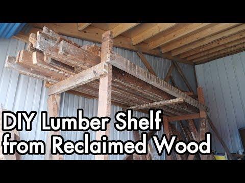 DIY Lumber Shelf from Reclaimed Wood