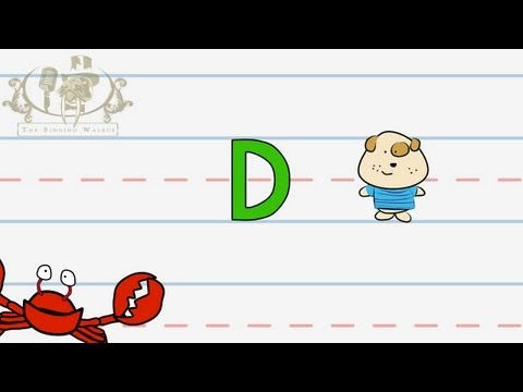 Write the letter D | Alphabet Writing lesson for children | The SInging Walrus