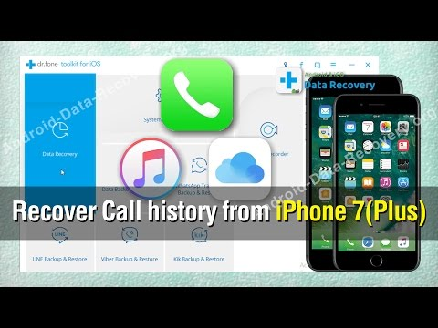 How to Recover Call history from iPhone 7/7 Plus
