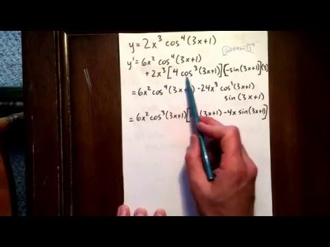 12 trig derivative: product rule and chain rule