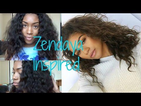 ZENDAYA HAIR INSPIRED: HEATLESS  WAVY HAIR TUTORIAL || SUREFITJOHNSON