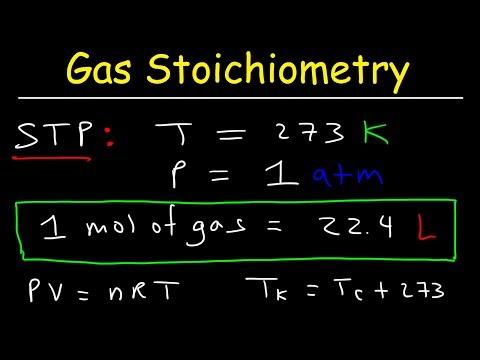 Gas Stoichiometry Problems