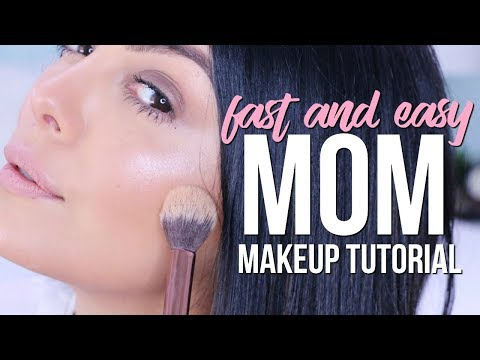 GET READY WITH ME: QUICK EVERYDAY MOM NATURAL GLAM MAKEUP TUTORIAL | SCCASTANEDA