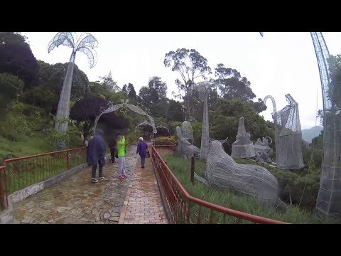 Bogota City view from Monserrate Mount