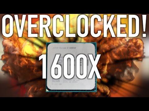 AMD Ryzen 5 1600X (4.1GHz ) Overclocked Performance!