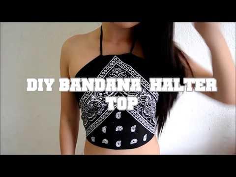 DIY Bandana Halter Top ♡ Easy No Sew!