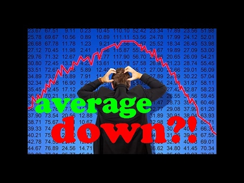 Averaging down your stock trades: A good idea? Or just crazy? / Losing money in stock market trading
