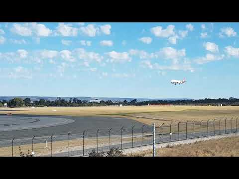 First Qantas Link A320 Plane to Land in Perth Airport