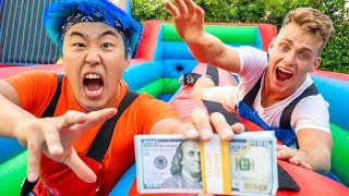 FIRST To GRAB $10,000 Challenge (BUNGEE RUN)