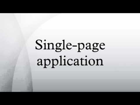 Single-page application
