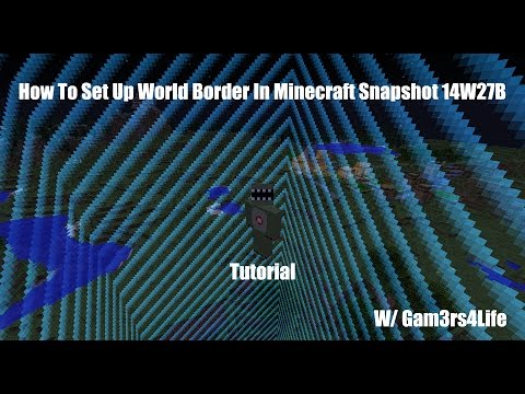 How To Set Up World Border In Minecraft 1.8+